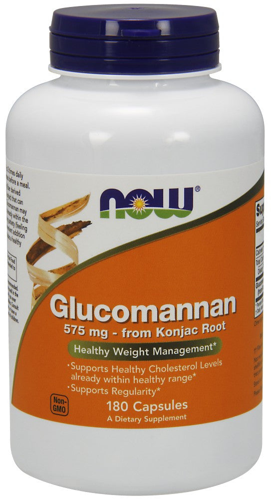 NOW Glucomannan 575 mg - 180 Capsules