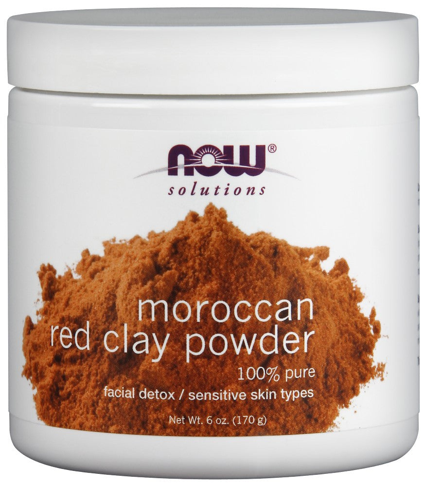 NOW Red Clay Powder Moroccan - 6 oz.