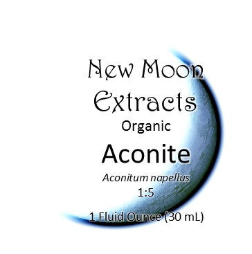 Aconite Tincture Organic (Aconitum napellus) New Moon Extracts