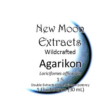 Agarikon Tincture Wildcrafted (Laricifomes officinalis) Double Extracted for maximum potency New Moon Extracts