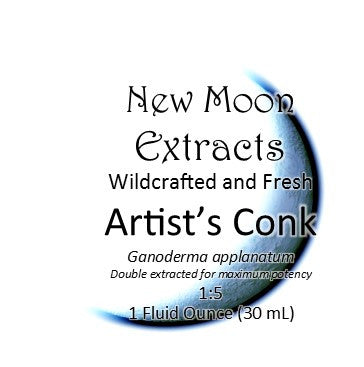 Artist's Conk Tincture Wildcrafted and Fresh (Ganoderma applanatum) New Moon Extracts