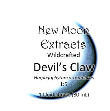 Devil's Claw Tincture Wildcrafted (Harpagophytum procumbens) New Moon Extracts