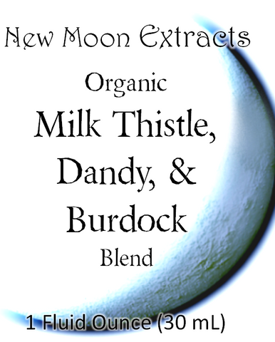 Milk Thistle, Dandy, & Burdock Tincture Blend (Organic)