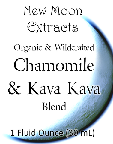 Chamomile & Kava Tincture Blend (Organic, Wildcrafted)
