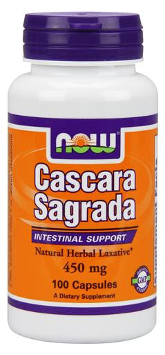 NOW Cascara Sagrada 450 mg - 100 Capsules