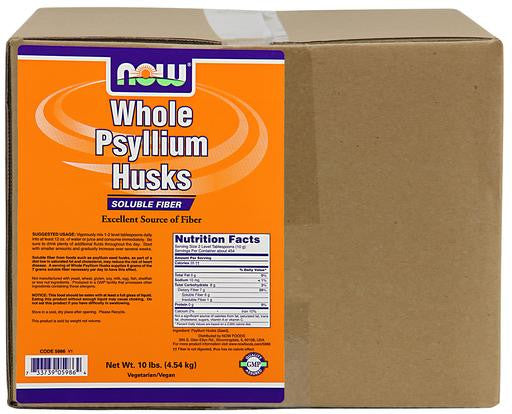 NOW Psyllium Husks Whole - 10 lb.