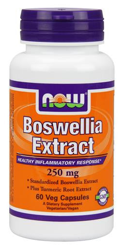 NOW Boswellia Extract 250 mg - 60 Vegetarian Capsules