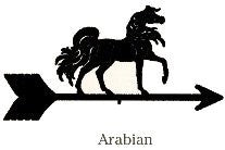 Arabian Weathervane Black Powder Coat