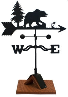 Bear Weathervane Black Powder Coat