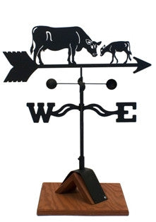 Cow & Calf Weathervane Black Powder Coat