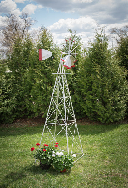 10 foot Premium Aluminum Decorative Garden Windmill