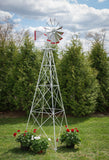 12 foot Premium Aluminum Decorative Garden Windmill