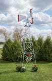 18 foot Premium Aluminum Decorative Garden Windmill