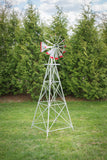 8 foot Premium Aluminum Decorative Garden Windmill