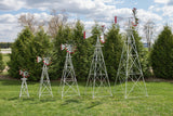 Premium Aluminum Garden Windmills 4foot to 12 foot