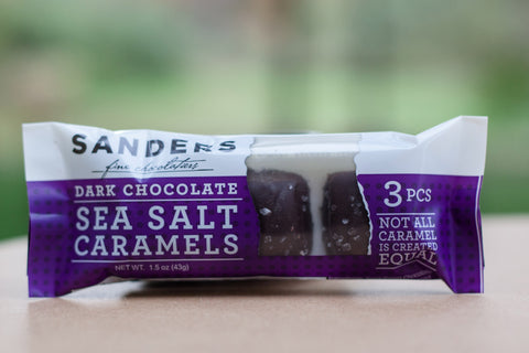 Dark Chocolate Sea Salt Caramels- Sanders