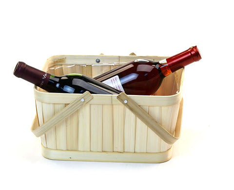 Bamboo Rectangle Basket w/ Handle
