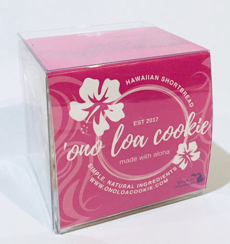 Buttery shortbread cookie box- 'ono loa cookie