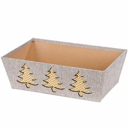 Burlap Pinetrees Market Tray (XL)