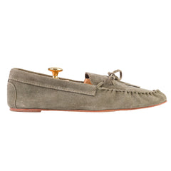Gray Suede Tassel Loafers US 12 EU 45