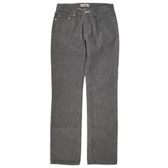 'Mic D' Grey Denim Straight Leg Jeans 30x32
