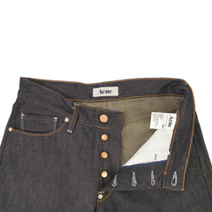 'Moc' Raw Indigo Cotton Jeans 29x32