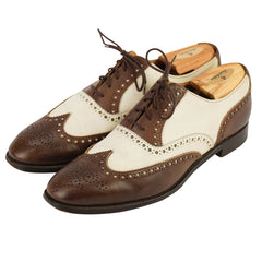 Brown Leather & Suede Spectator Oxfords US 11 D