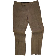 'Covington' Brown Linen Pants Trousers 39x35