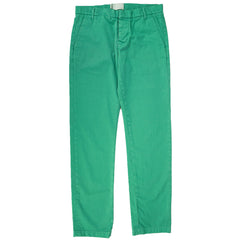 Green Cotton Slim Fit Pants 32x31