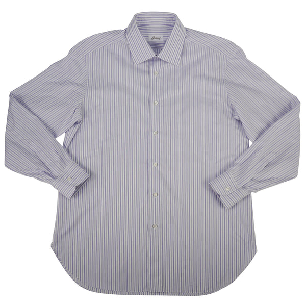Purple Striped Spread Collar Shirt 16/41