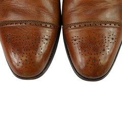Brown Leather Medallion Captoe Oxfords US 11 D