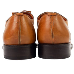 Burnished Brown Leather Oxfords US 12