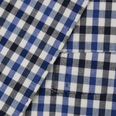 Blue Cotton Gingham Check Blazer 44 R