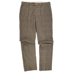 Tan Glenplaid Check Cotton Pants 34x34