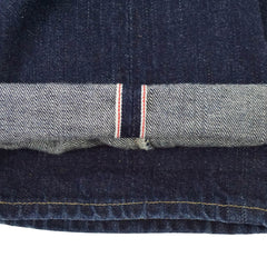 '484 Slim' Indigo Button-Fly Selvedge Denim Jeans 34x32