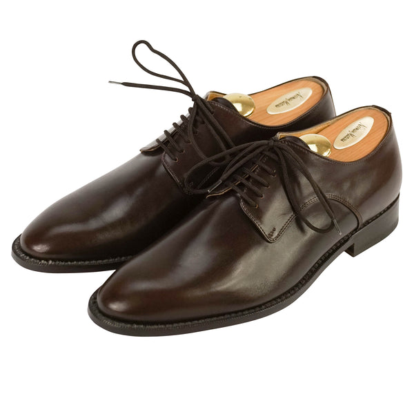 Dark Brown Leather Plaintoe Oxfords US 9 IT 8