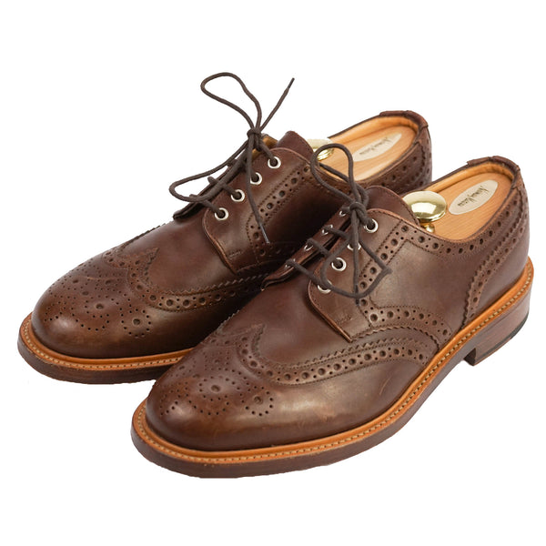 'New Amsterdam' Brown Leather English Brogue Oxfords US 11