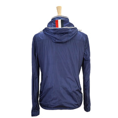Blue Signature Patch Hooded Zip-Front Technical Jacket L 4