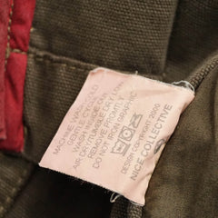 Green Cotton Unlined Military Jacket M