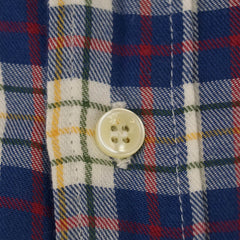Soft Cotton Plaid Flannel Buttondown Shirt M