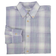 Purple & Green Plaid Buttondown Shirt L 48