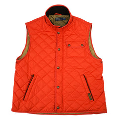 Orange Quilted Suede Trim Vest XL