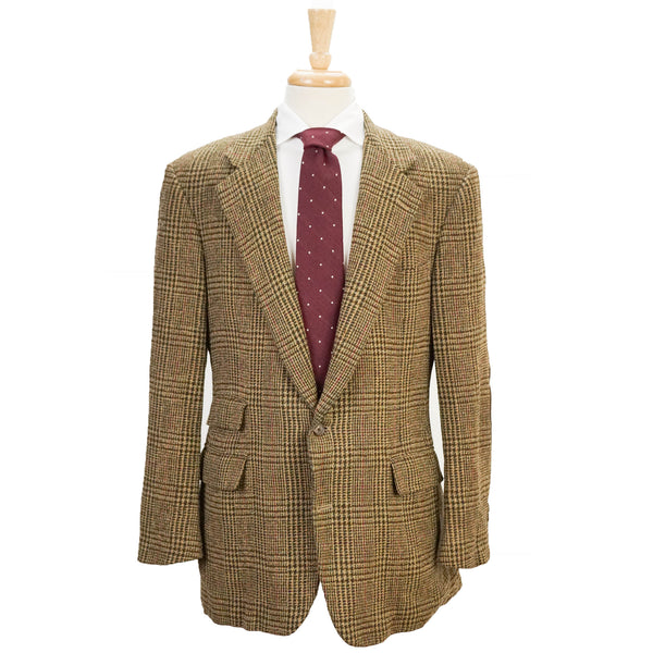 Tweed Suede Patch Country Jacket 42 R