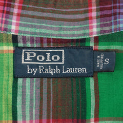 Bold Plaid Check Snap-Front Western Shirt S