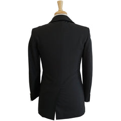 Black Wool & Mohair Slim Fit Jacket S