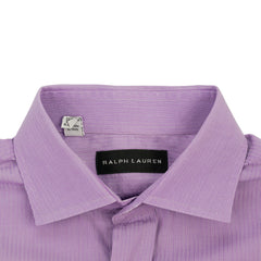 Purple Striped Slim Fit Spread Collar Shirt 15/35