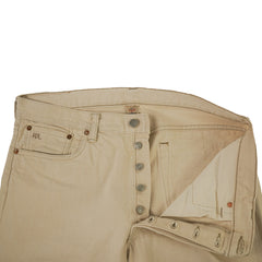 'Cream Wash' Slim Fit Selvedge Denim Jeans 36x33