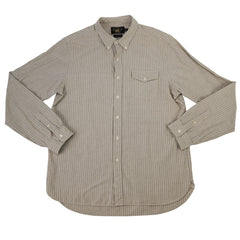 Striped Cotton Heritage Buttondown Workshirt L