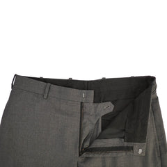 Gray Slim Fit Flat Front Wool Pants 33x33