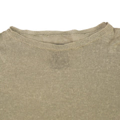 SIKI IM Tan Solid Crewneck Pure Linen Knit Sweater S